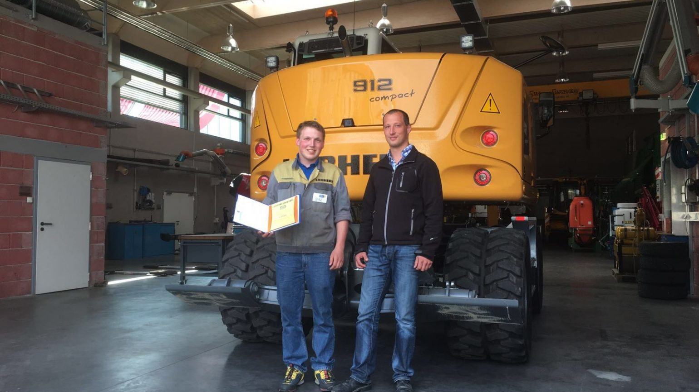 Bester Lehrling der Baumaschinentechnik 2016 in Österreich kommt von Liebherr